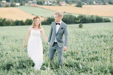 Avslappnat norrlandsbröllop: Pelle och Jessica