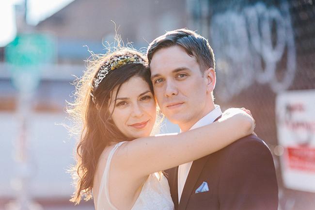 Rustikt och industriellt New York-bröllop: Lindsey och Sean