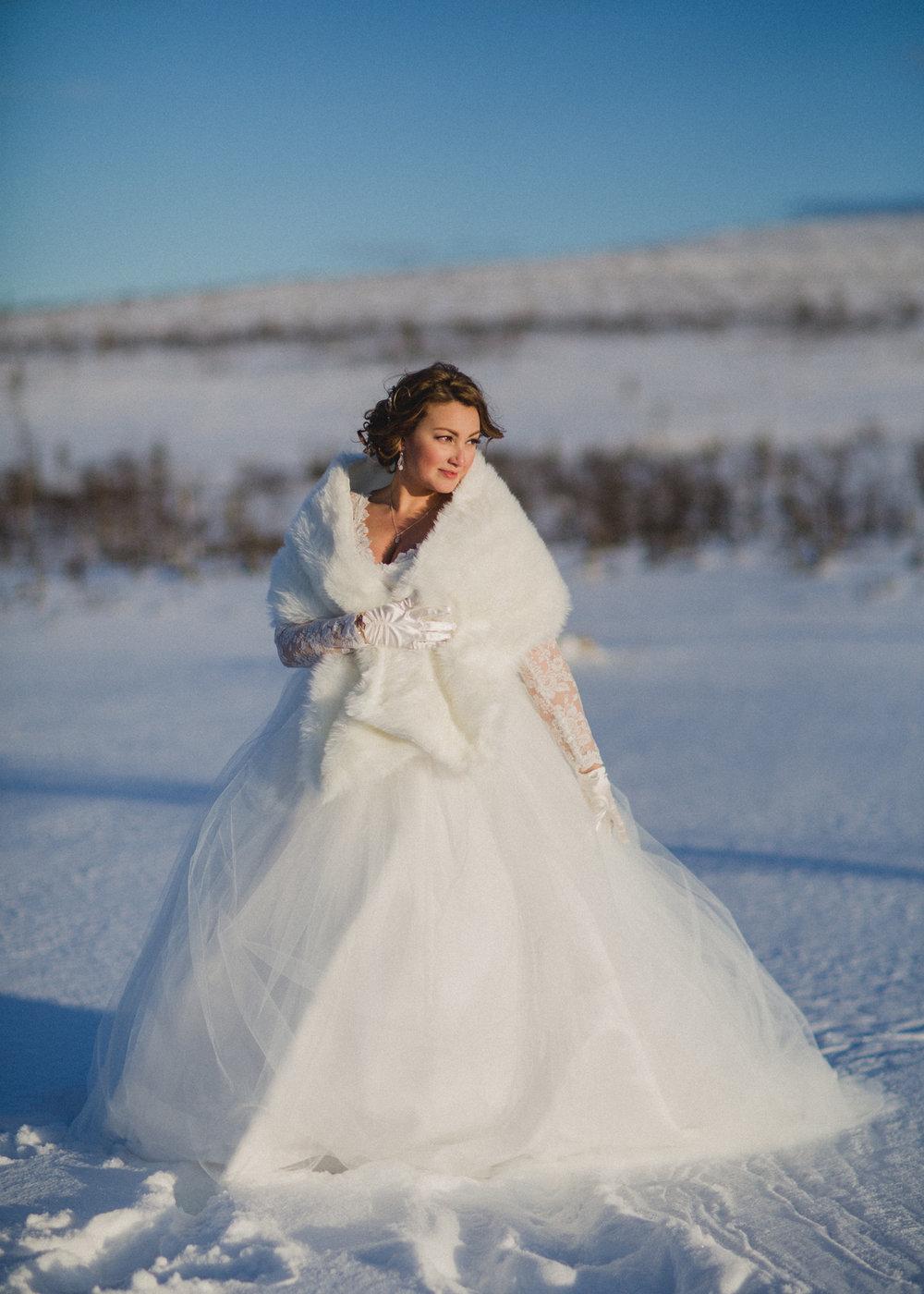 Brudklänning vinter