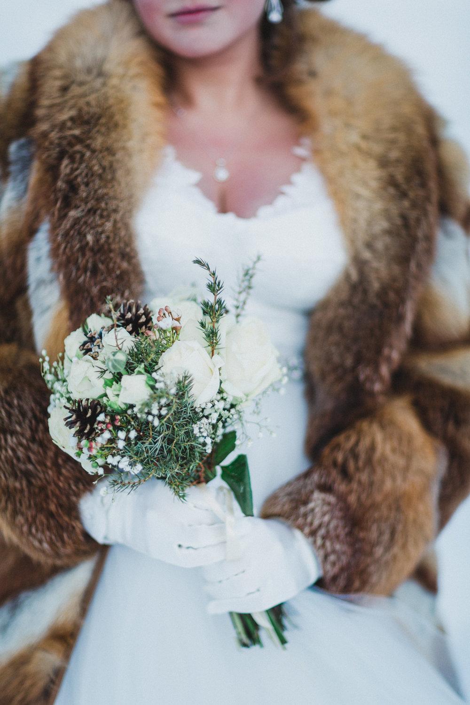 Vinterbröllop bukett