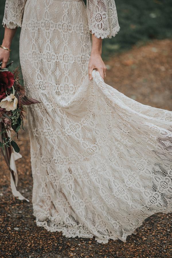 Bohemiskt brudklänning