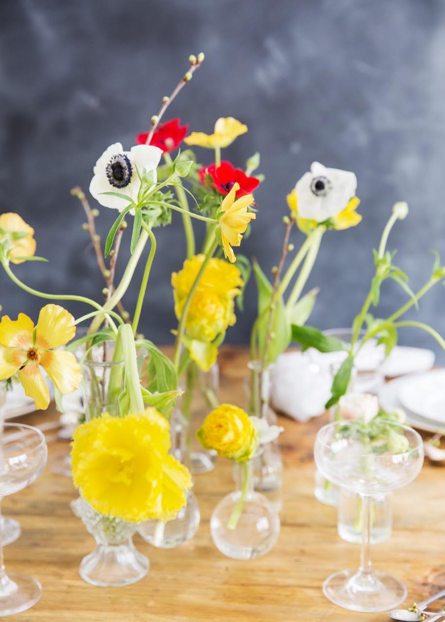 Blommor dukning