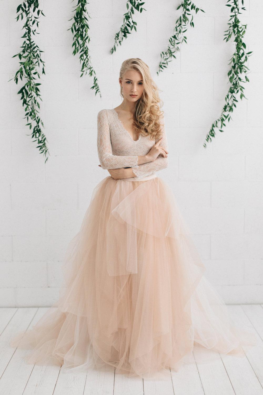 Rosa brudklänning