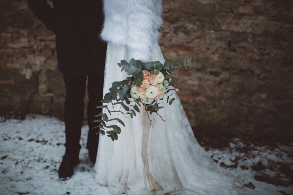 Brudbukett Vinterbröllop