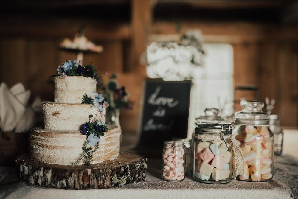 buffé bröllop tårta