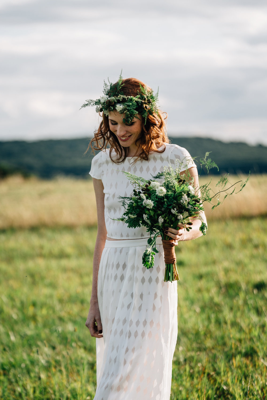 Bröllopsklädsel brudklänning