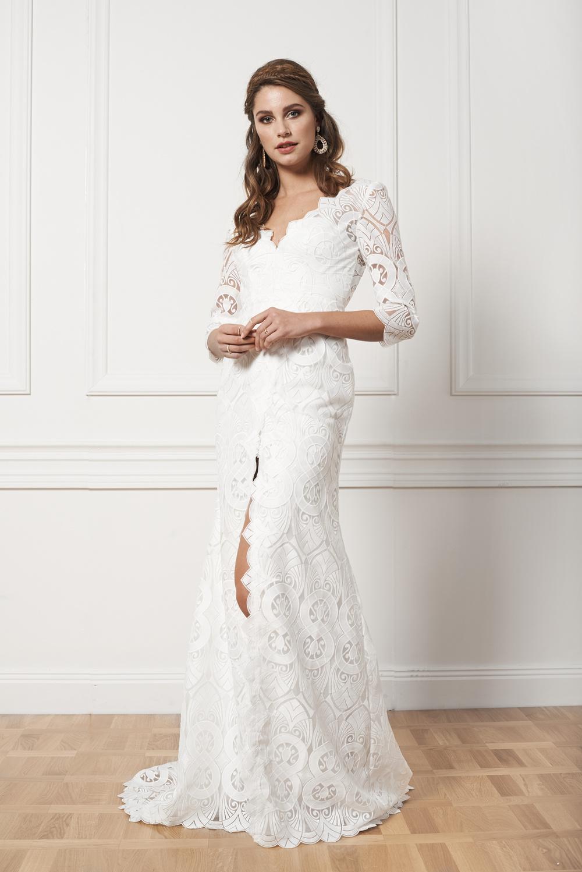Bohemisk brudklänning By Malina