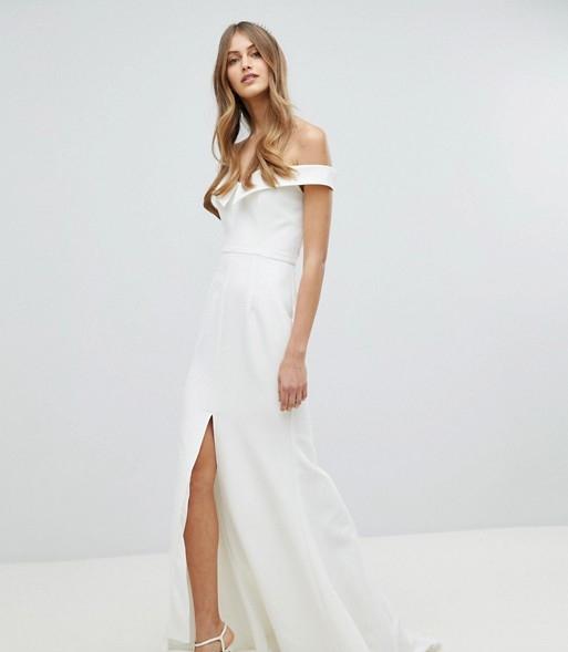 Klänning med slits , ASOS