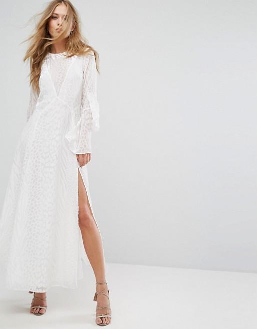 Långärmad klänning med slits , ASOS