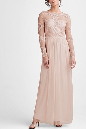 Ljusrosa spetsklänning , Ellos