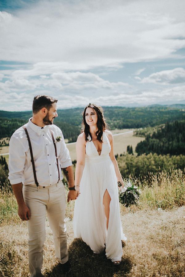 Brudklänning med slits
