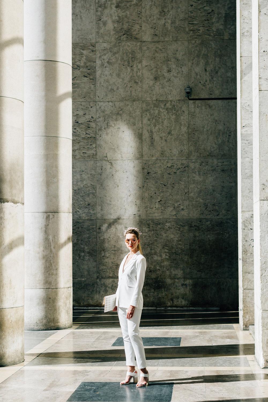 vit kostym bröllop