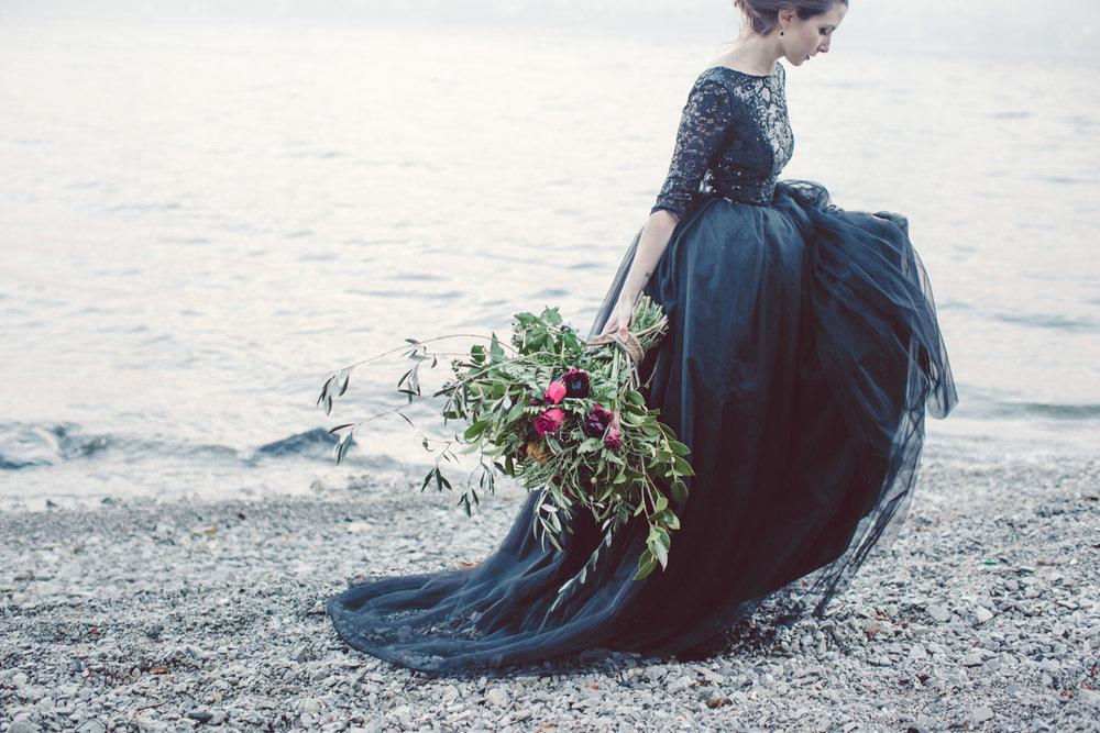 Bröllop+bukett+klänning
