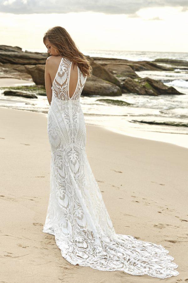 bohemiskt +brudklänning