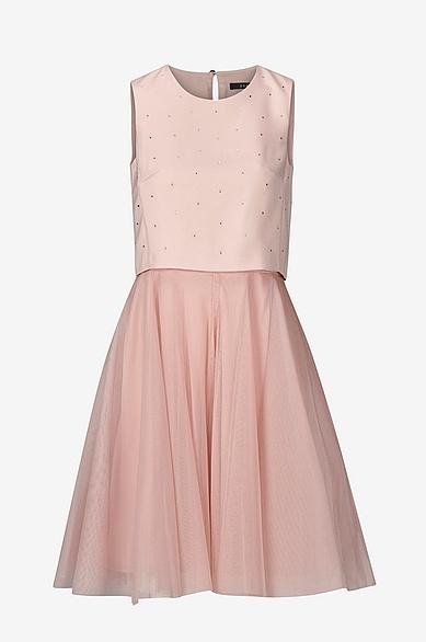 Rosa klänning med tyllkjol,  Ellos