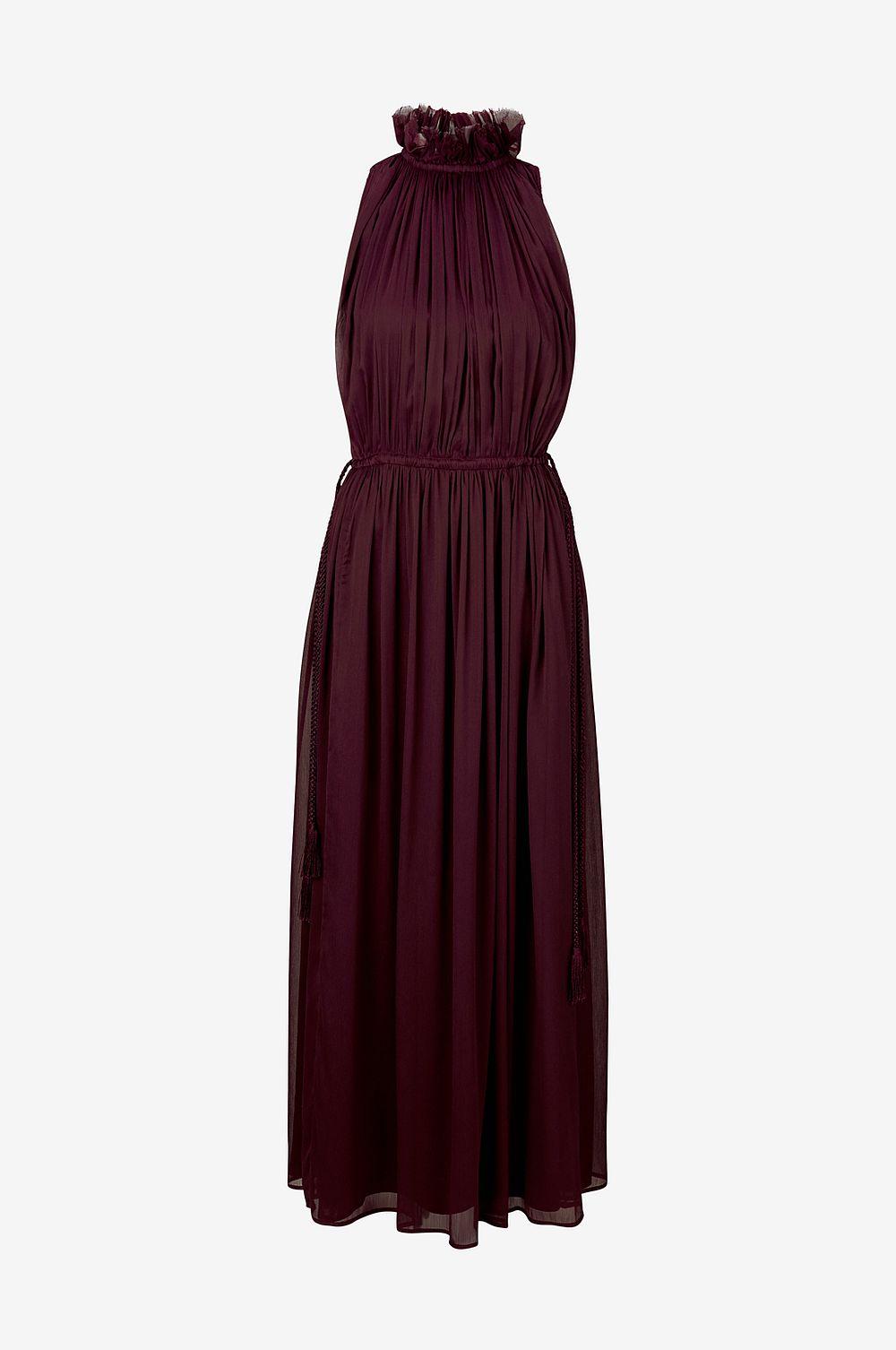 Vinröd brudklänning , Ellos