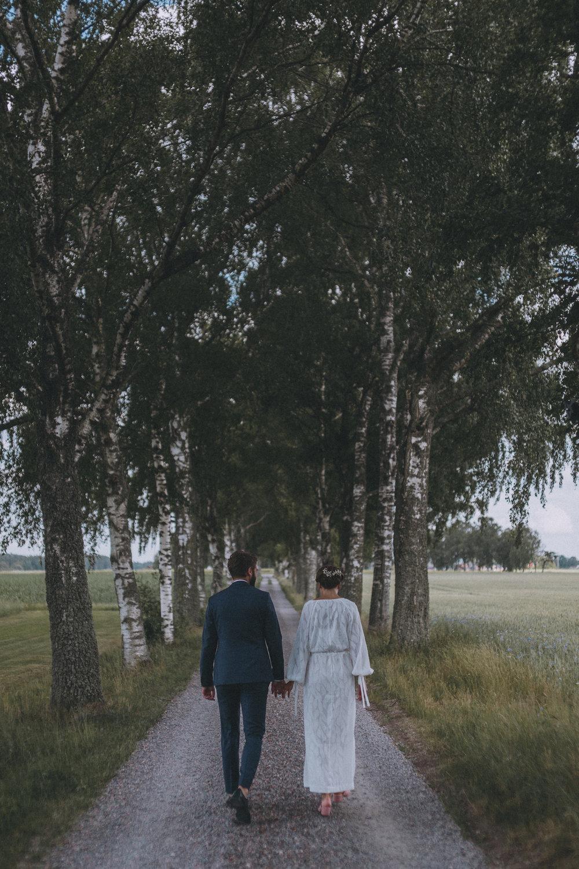 lantligt bröllop