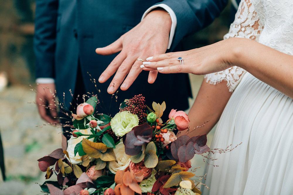 brudbukett + höstbröllop