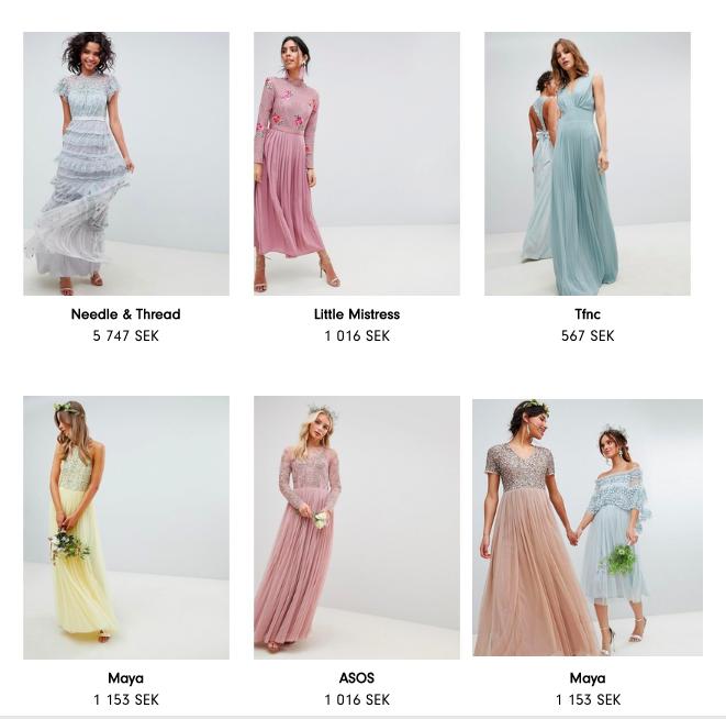 brudtärna +klänning