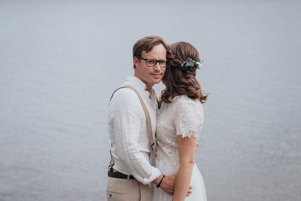 brudpar+sommarbröllop