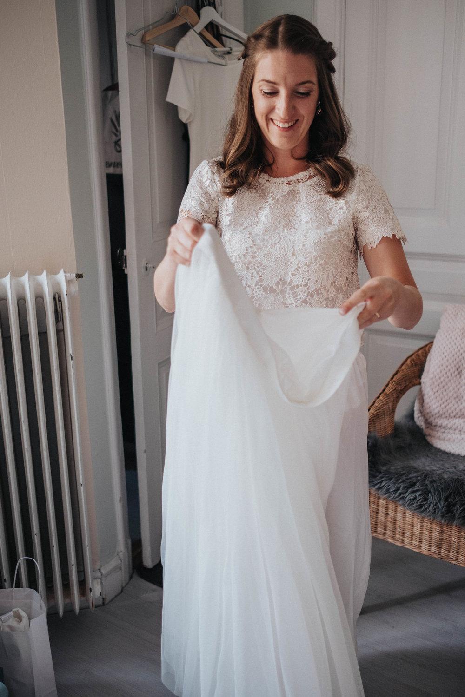 brudklänning tyll