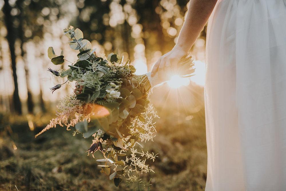 Golden hour bröllop