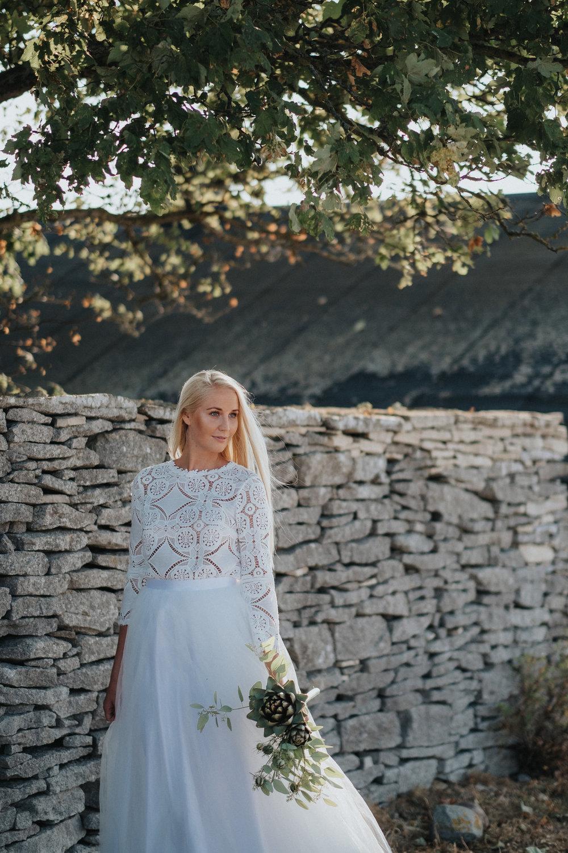 Modern och minimalistisk inspiration till bruden -