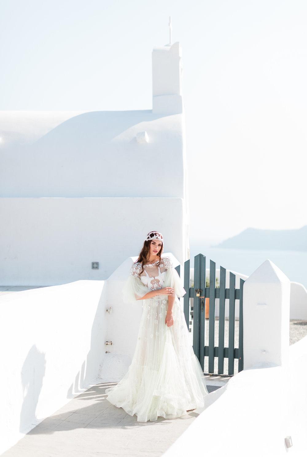 Minimalistisk bröllopsinspiration från Santorini -
