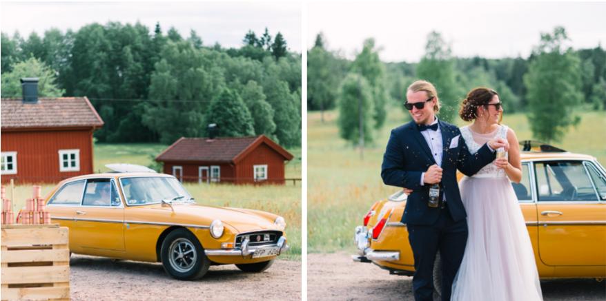 Lantligt bröllop i Småland med skogsvigsel: Ida + Magnus  // Fotograf: Johanna Levin