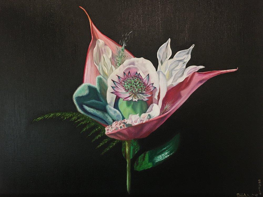 Brandys oljemålning av blommorna