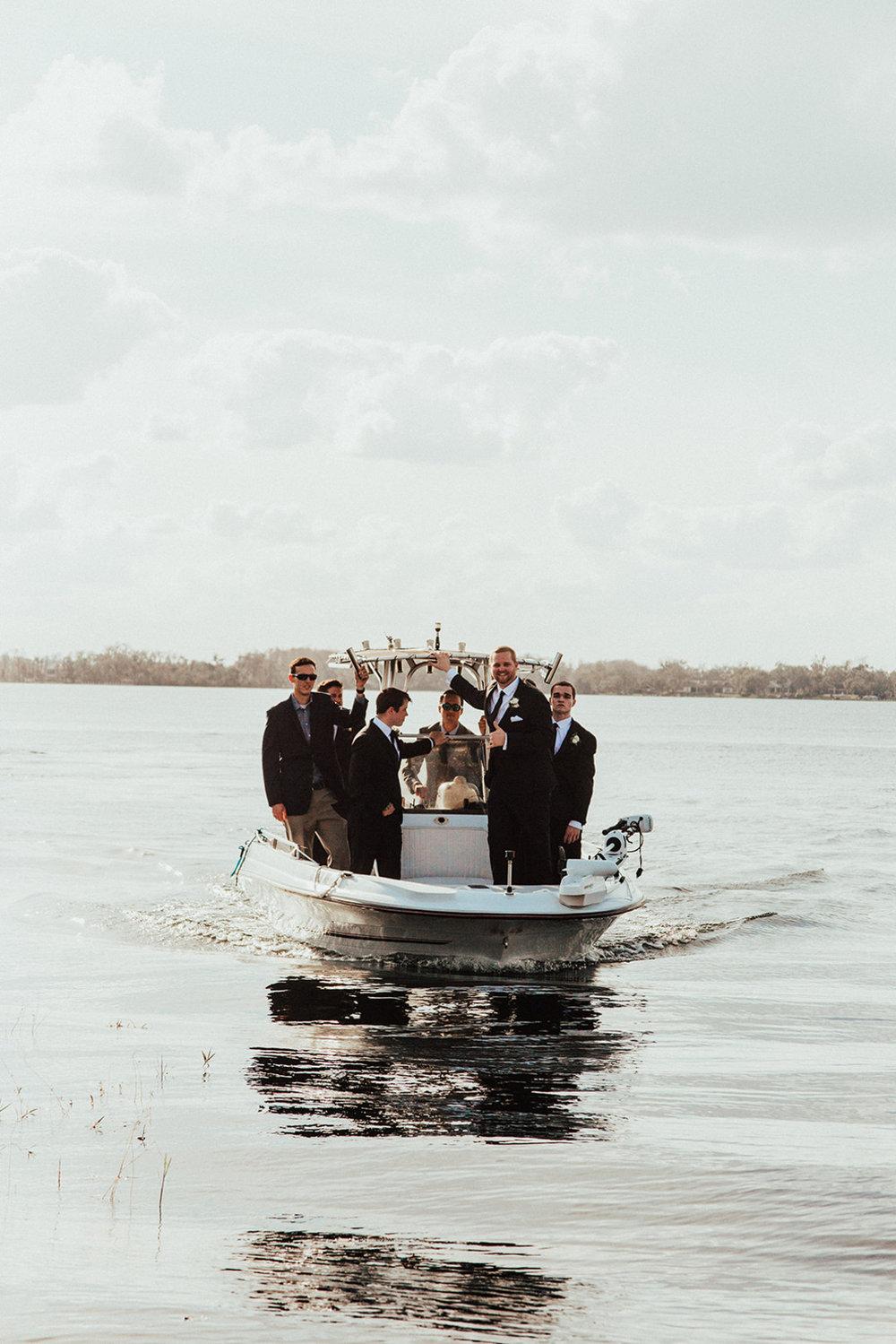 bröllop+båt+brudgum