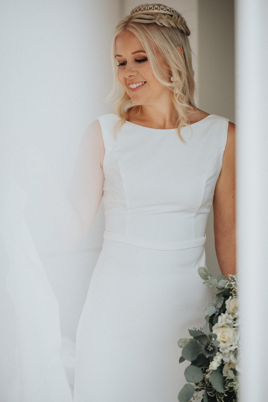 bröllopsblogg + brudklänning