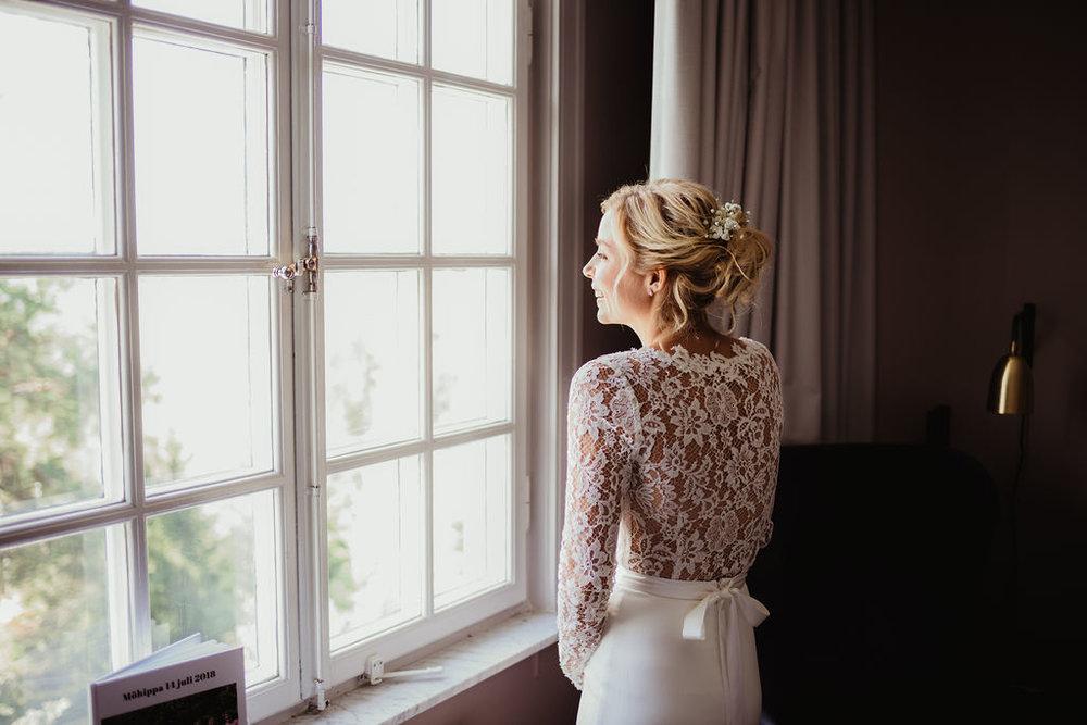 brudklänning bohemisk spets