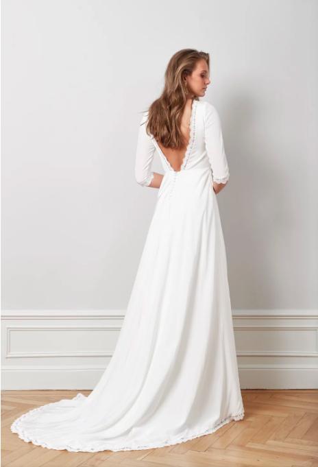 Brudklänning med släp , By Malina
