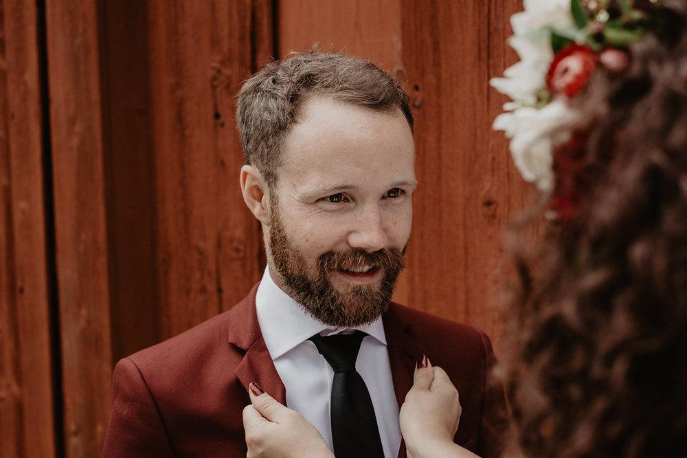 brudpar bröllopsfotografi