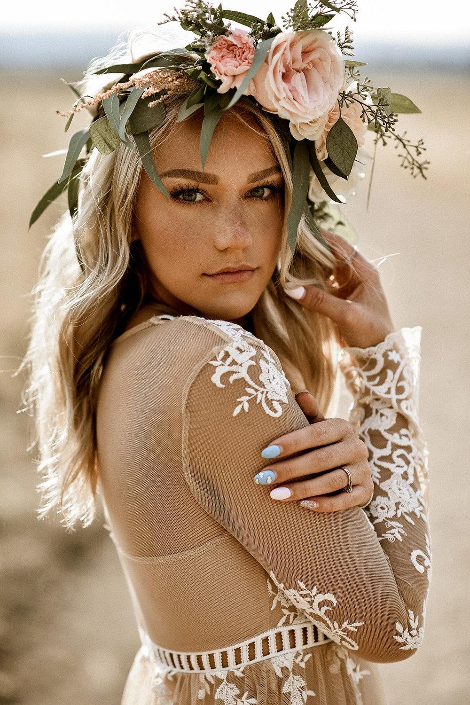 boho+brudklänning+bohemisk+klänning+blomkrans