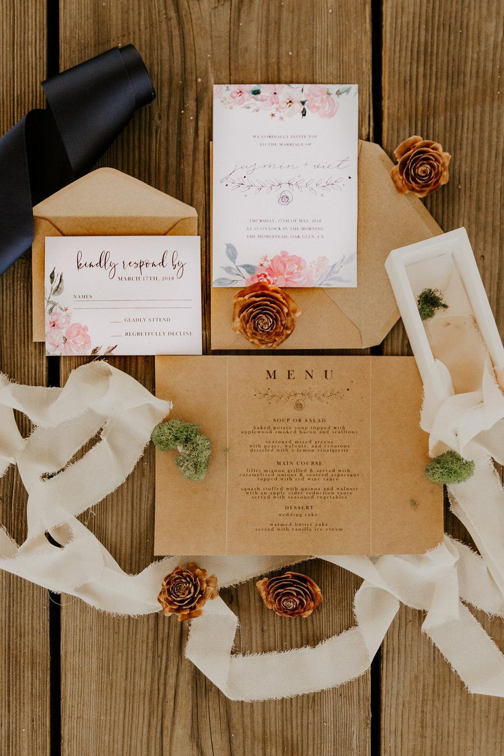 bröllop+romantiskt+lantligt+trycksaker