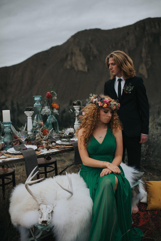bröllop+boho+öknen+brudkänning+blomsterkrans
