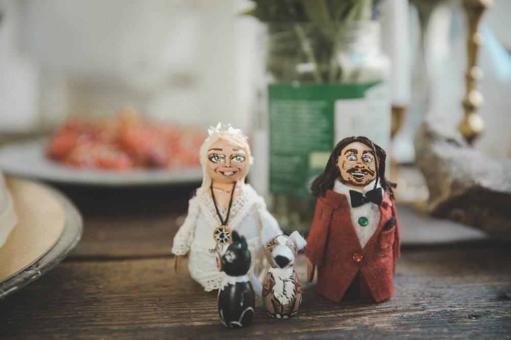 bohemiskt bröllop cake toppers