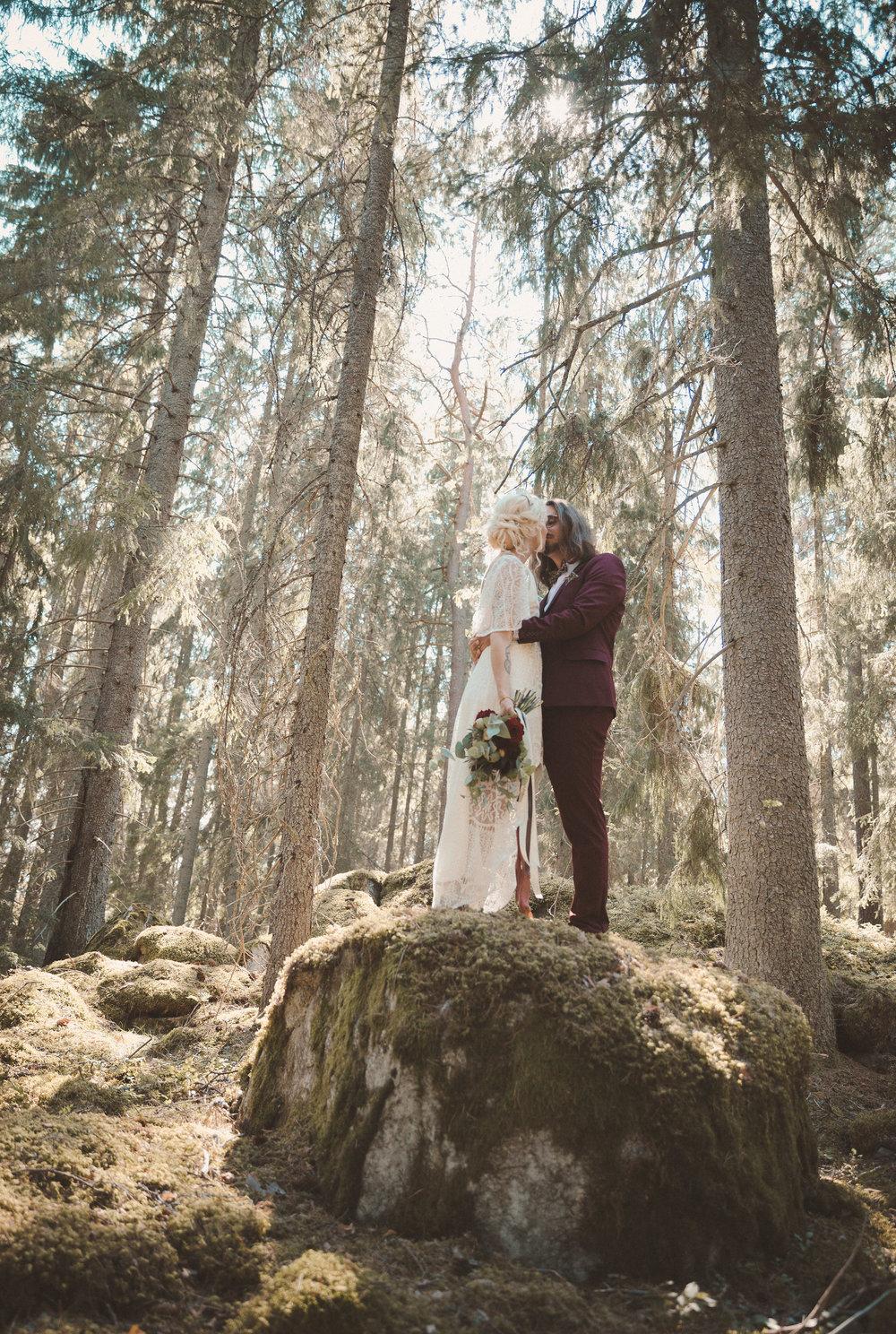 bohemiskt skogsbröllop