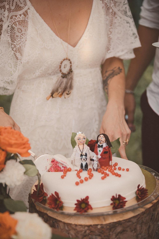 bohemiskt sommarbröllop bröllopstårta