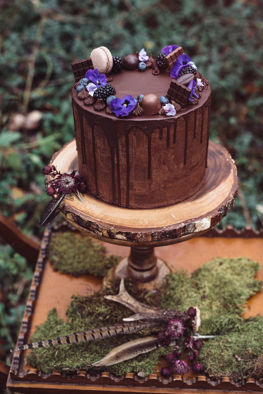 bröllop+elopement+boho+rustic+tårta