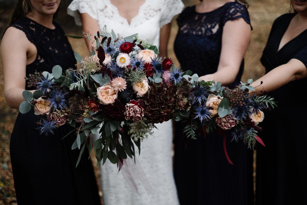 Brudbukett höstbröllop