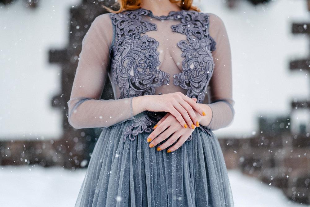 vinterbröllop+natur+brudklänning