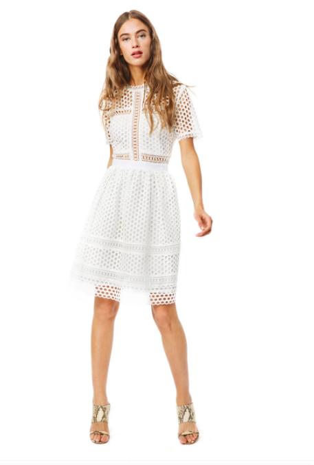 Vit spetsklänning , By Malina
