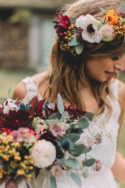 bröllop+boho+höst+brudbukett