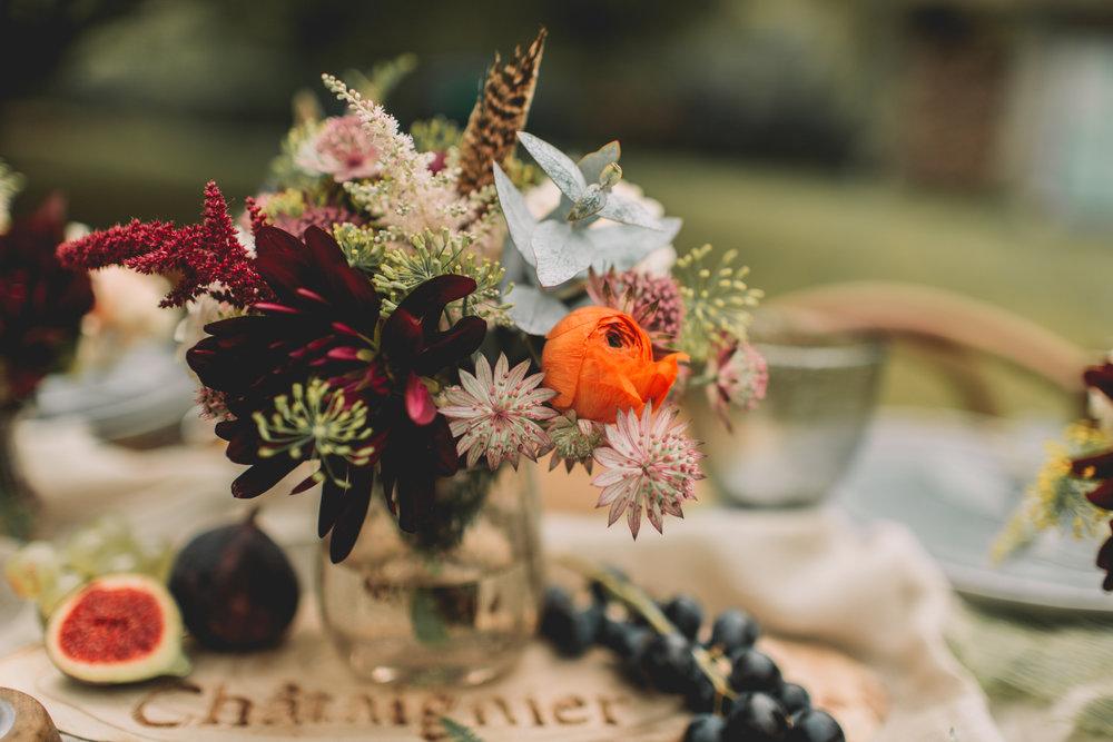 bröllop+boho+höst+dukning+bukett