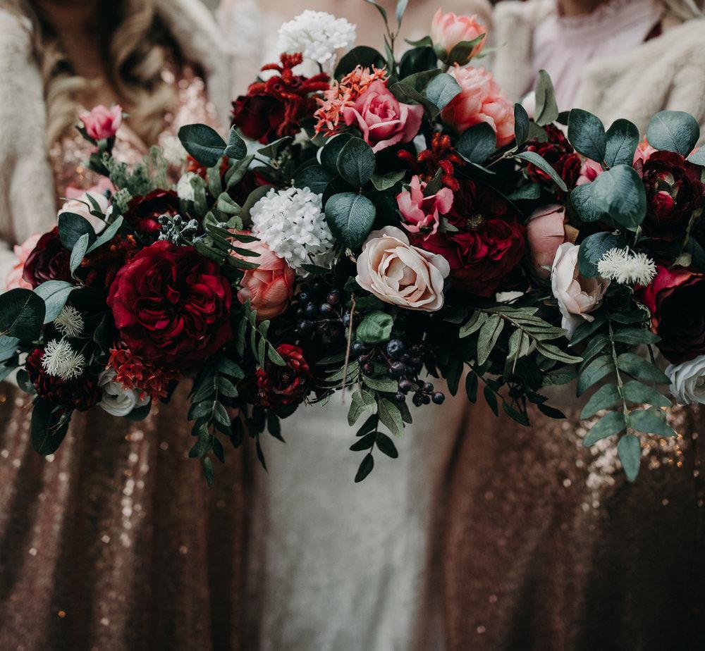 bröllop+nyår+DIY+brudbukett