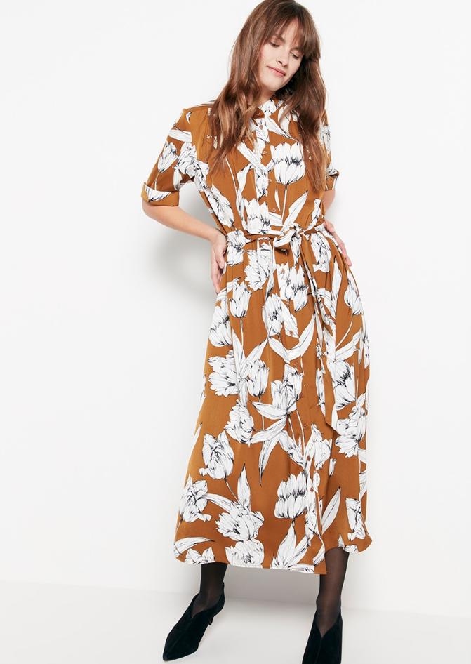 Mönstrad klänning , Lindex