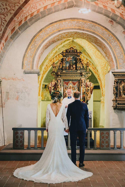 kyrklig vigsel + bröllop